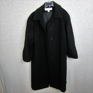 Womans Lambs Wool Trench Coat Black Size 12P